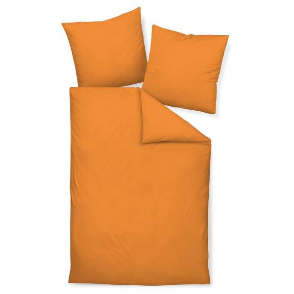 JANINE Satin UNI COLORS 31001 orange 155x220+80x80