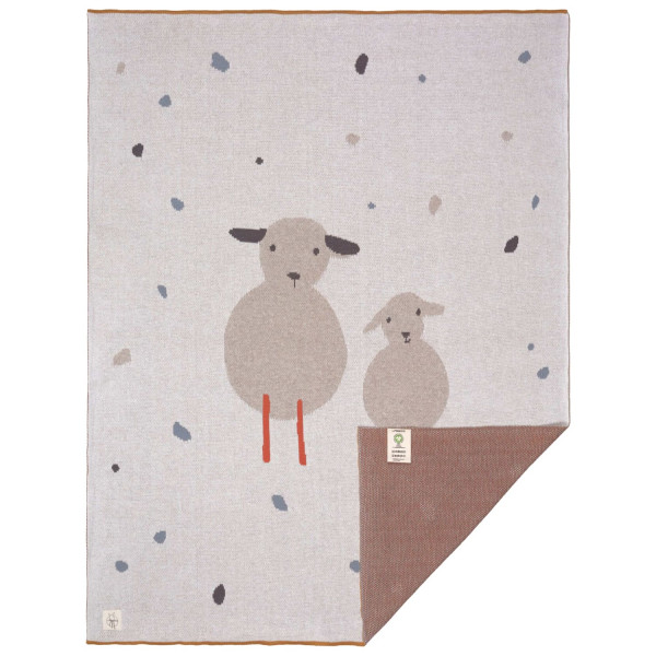 Lässig Knitted Blanket GOTS Tiny Farmer Sheep