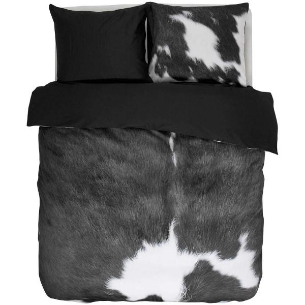 ESSENZA Satin Cow Grey 155x220+80x80