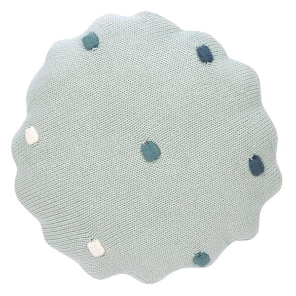 Lässig Knitted Pillow Dots Light Mint