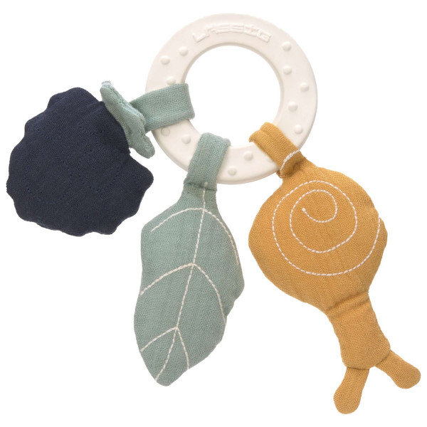 Lässig Teether Ring Natural Rubber Butterfly
