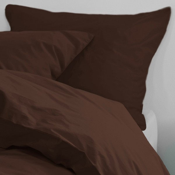 ESSENZA Satin Cotton Brown 200x200+2x80x80