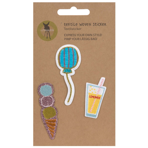 Lässig Textile Woven Sticker Stick on Sunny