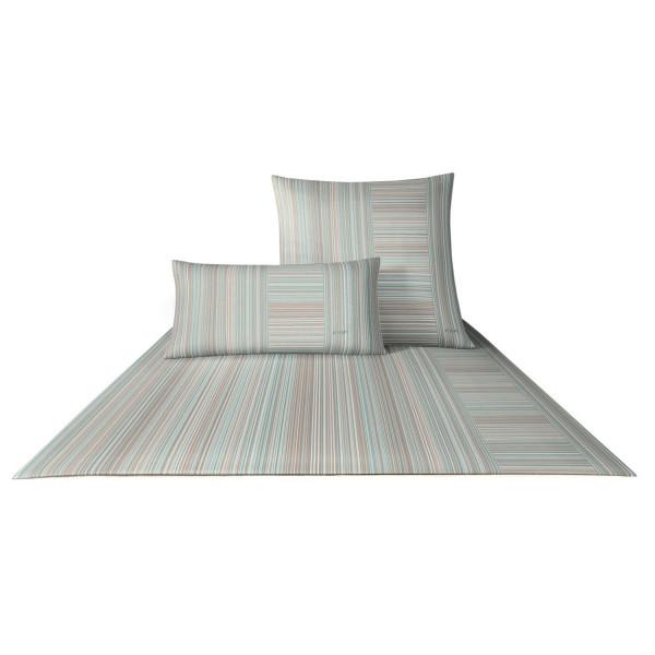 JOOP! Satin Fine Stripes aquamarine 200x200+2x80x80