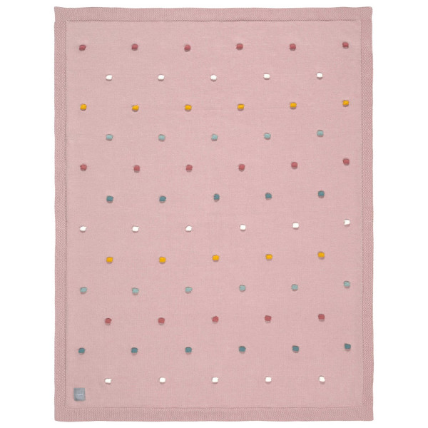 Lässig Knitted Blanket Dots Dusky Pink